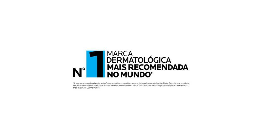 Selo | Marca Dermatológica mais recomendada no Mundo | La Roche-Posay