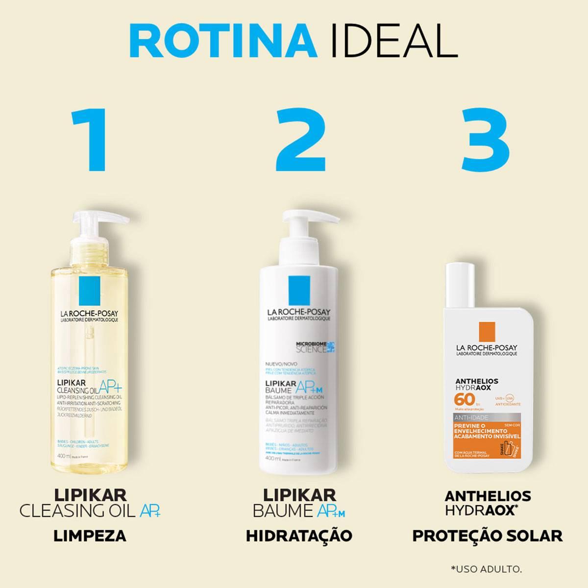 Rotina completa com o novo Lipikar Cleasing Oil AP+ 400ml | La Roche-Posay